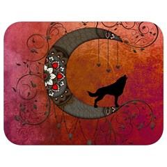 Black Wolf On Decorative Steampunk Moon Full Print Lunch Bag by FantasyWorld7