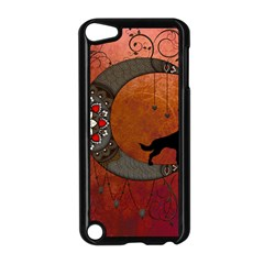 Black Wolf On Decorative Steampunk Moon Apple Ipod Touch 5 Case (black) by FantasyWorld7