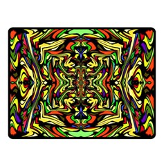 Artwork By Patrick Colorful 19 Double Sided Fleece Blanket (small)