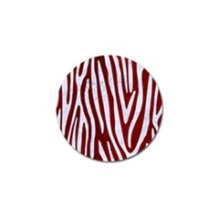 Skin3 White Marble & Red Grunge (r) Golf Ball Marker by trendistuff