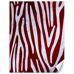 Skin3 White Marble & Red Grunge (r) Canvas 18  X 24   by trendistuff