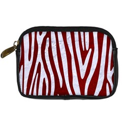Skin3 White Marble & Red Grunge (r) Digital Camera Cases by trendistuff