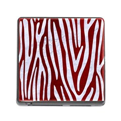 Skin3 White Marble & Red Grunge (r) Memory Card Reader (square) by trendistuff