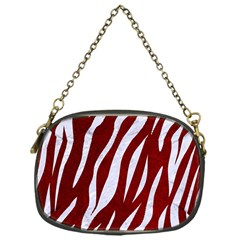Skin3 White Marble & Red Grunge Chain Purses (one Side)  by trendistuff