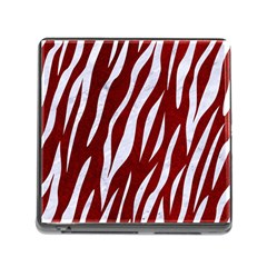 Skin3 White Marble & Red Grunge Memory Card Reader (square) by trendistuff
