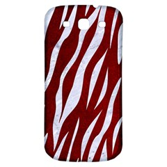 Skin3 White Marble & Red Grunge Samsung Galaxy S3 S Iii Classic Hardshell Back Case by trendistuff