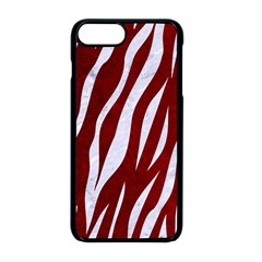 Skin3 White Marble & Red Grunge Apple Iphone 8 Plus Seamless Case (black) by trendistuff