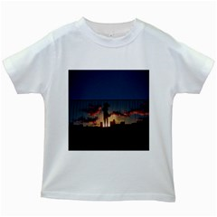 Art Sunset Anime Afternoon Kids White T-shirts