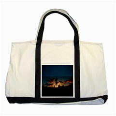 Art Sunset Anime Afternoon Two Tone Tote Bag by Sapixe