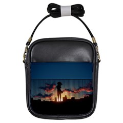 Art Sunset Anime Afternoon Girls Sling Bags by Sapixe