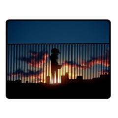 Art Sunset Anime Afternoon Fleece Blanket (small)