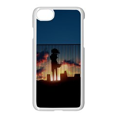 Art Sunset Anime Afternoon Apple Iphone 8 Seamless Case (white) by Sapixe