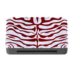 Skin2 White Marble & Red Grunge (r) Memory Card Reader With Cf by trendistuff
