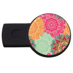 Art Abstract Pattern Usb Flash Drive Round (4 Gb)
