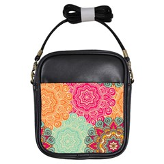 Art Abstract Pattern Girls Sling Bags by Sapixe