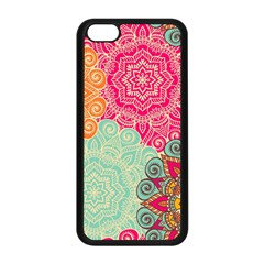 Art Abstract Pattern Apple Iphone 5c Seamless Case (black) by Sapixe