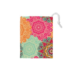 Art Abstract Pattern Drawstring Pouches (small)  by Sapixe