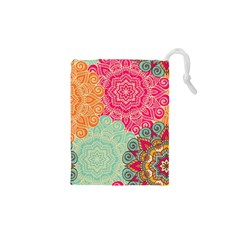 Art Abstract Pattern Drawstring Pouches (xs)  by Sapixe
