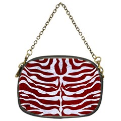 Skin2 White Marble & Red Grunge Chain Purses (one Side)  by trendistuff