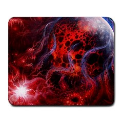 Art Space Abstract Red Line Large Mousepads