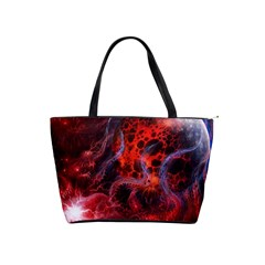 Art Space Abstract Red Line Shoulder Handbags