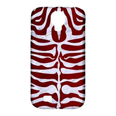 Skin2 White Marble & Red Grunge Samsung Galaxy S4 Classic Hardshell Case (pc+silicone) by trendistuff