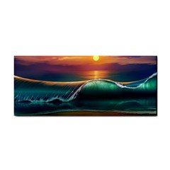 Art Sunset Beach Sea Waves Cosmetic Storage Cases by Sapixe