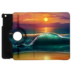 Art Sunset Beach Sea Waves Apple Ipad Mini Flip 360 Case