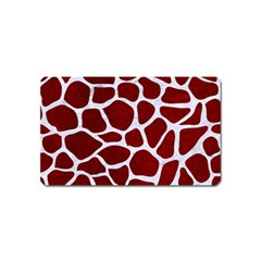 Skin1 White Marble & Red Grunge (r) Magnet (name Card) by trendistuff