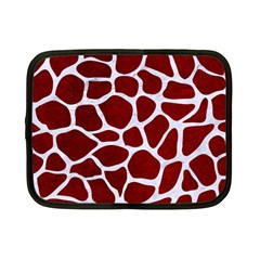 Skin1 White Marble & Red Grunge (r) Netbook Case (small)  by trendistuff