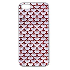 Scales3 White Marble & Red Grunge (r) Apple Seamless Iphone 5 Case (clear) by trendistuff