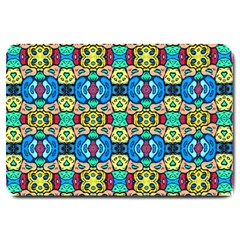 Colorful 22 Large Doormat  by ArtworkByPatrick