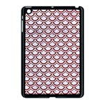 SCALES2 WHITE MARBLE & RED GRUNGE (R) Apple iPad Mini Case (Black) Front