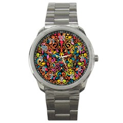 Art Traditional Pattern Sport Metal Watch