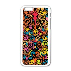 Art Traditional Pattern Apple Iphone 6/6s White Enamel Case by Sapixe