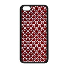 Scales2 White Marble & Red Grunge Apple Iphone 5c Seamless Case (black) by trendistuff