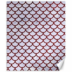 Scales1 White Marble & Red Grunge (r) Canvas 8  X 10  by trendistuff