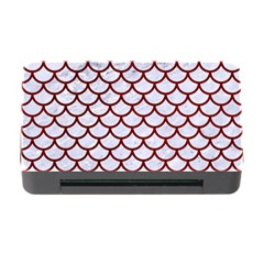 Scales1 White Marble & Red Grunge (r) Memory Card Reader With Cf by trendistuff