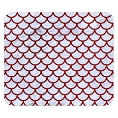 Scales1 White Marble & Red Grunge (r) Double Sided Flano Blanket (small)  by trendistuff