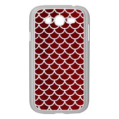 Scales1 White Marble & Red Grunge Samsung Galaxy Grand Duos I9082 Case (white) by trendistuff