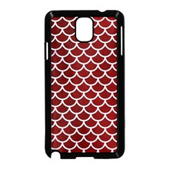 Scales1 White Marble & Red Grunge Samsung Galaxy Note 3 Neo Hardshell Case (black) by trendistuff