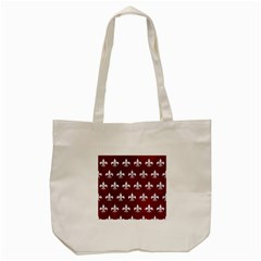 Royal1 White Marble & Red Grunge (r) Tote Bag (cream) by trendistuff