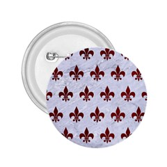 Royal1 White Marble & Red Grunge 2 25  Buttons by trendistuff
