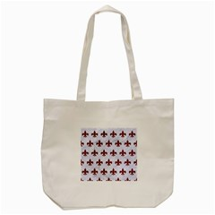 Royal1 White Marble & Red Grunge Tote Bag (cream) by trendistuff