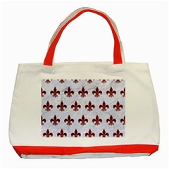 Royal1 White Marble & Red Grunge Classic Tote Bag (red) by trendistuff