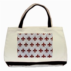Royal1 White Marble & Red Grunge Basic Tote Bag (two Sides) by trendistuff