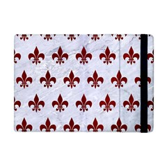 Royal1 White Marble & Red Grunge Apple Ipad Mini Flip Case by trendistuff