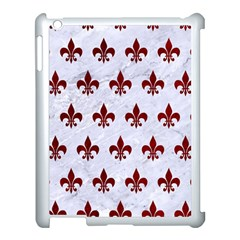 Royal1 White Marble & Red Grunge Apple Ipad 3/4 Case (white) by trendistuff