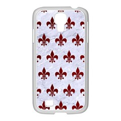 Royal1 White Marble & Red Grunge Samsung Galaxy S4 I9500/ I9505 Case (white) by trendistuff