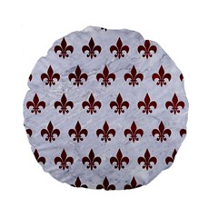 Royal1 White Marble & Red Grunge Standard 15  Premium Flano Round Cushions by trendistuff